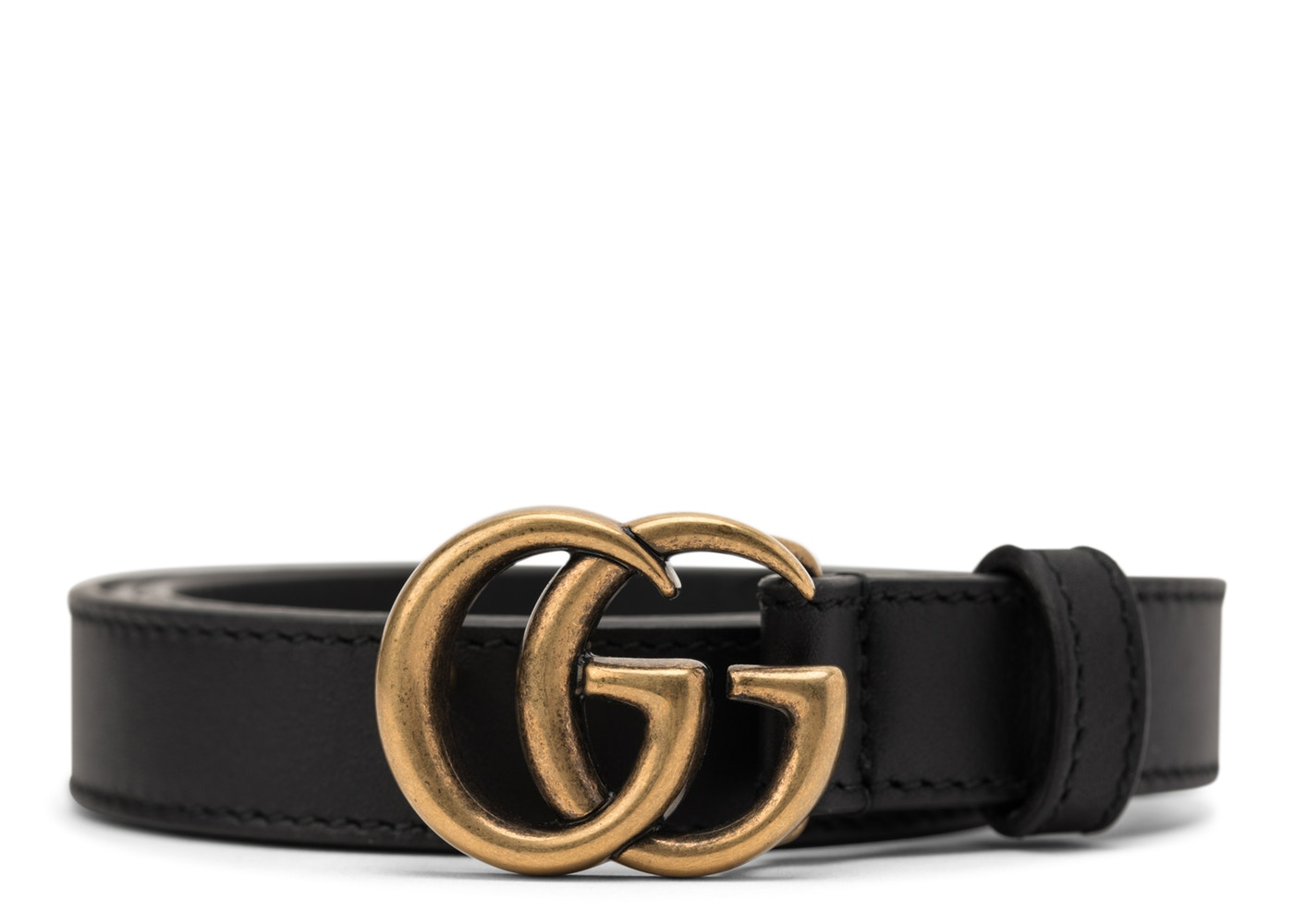 284ad5c9512 Gucci Double G Buckle Leather Belt 1.5 Width 80-32 Black