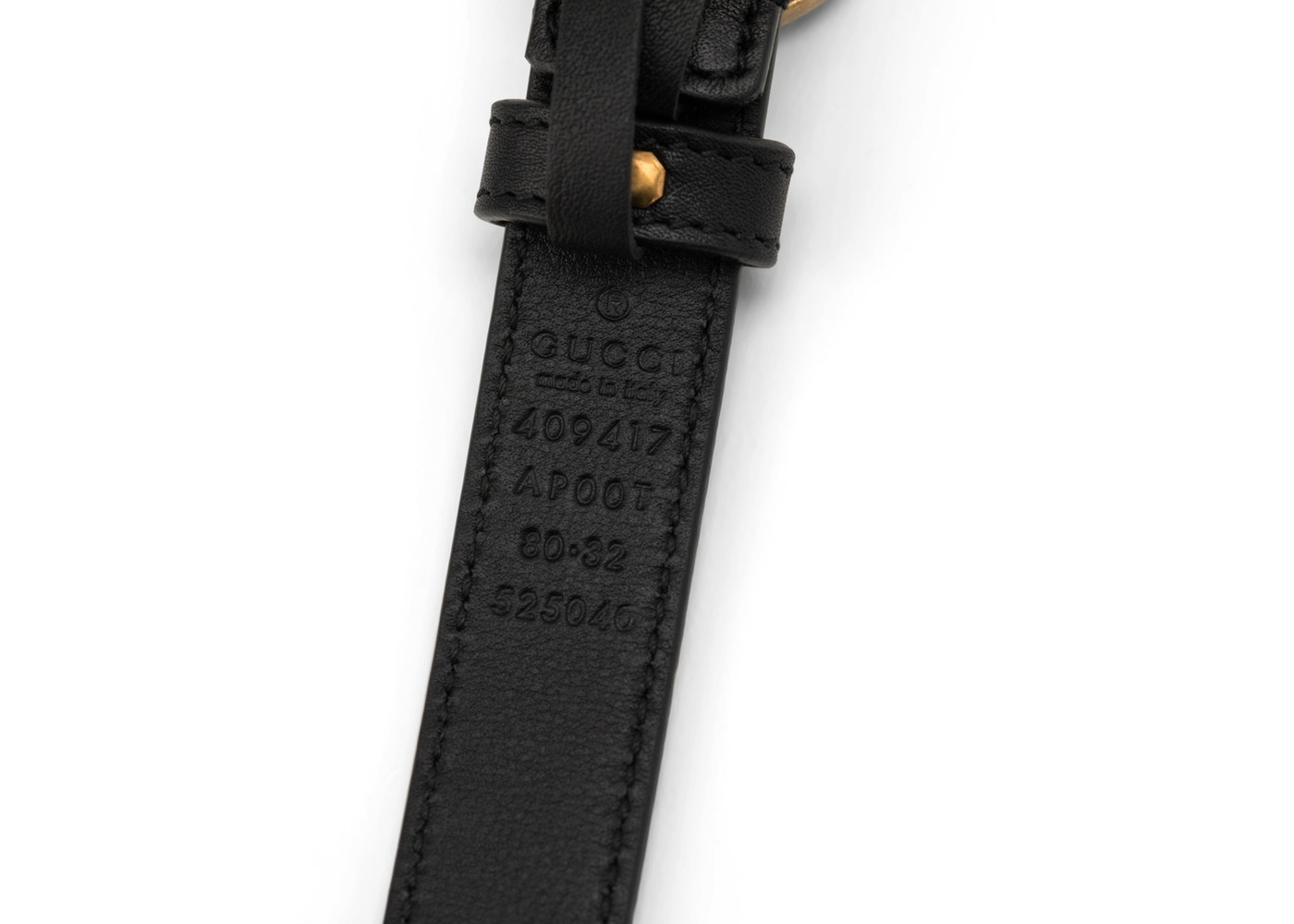 198be3a70 Gucci Double G Buckle Leather Belt 1.5 Width 80-32 Black